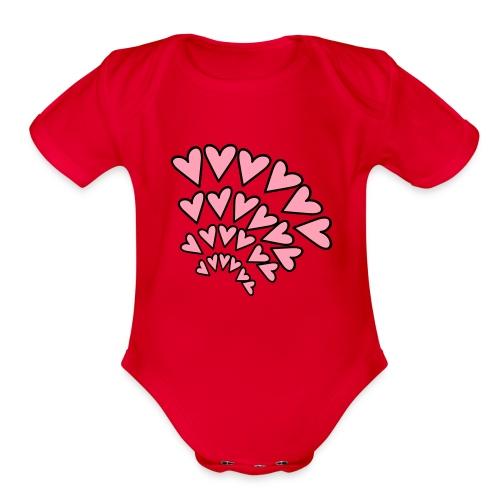 KKT 'Hearts 4 Arcs Random' Baby SS 1-Piece Tee, Mint Green - Organic Short Sleeve Baby Bodysuit