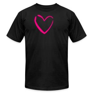 Heart Shirt (American Apparel) - Men's Fine Jersey T-Shirt