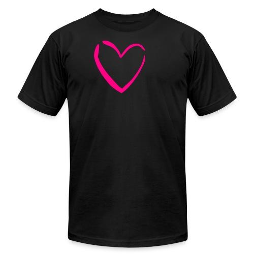 Heart Shirt (American Apparel) - Men's  Jersey T-Shirt