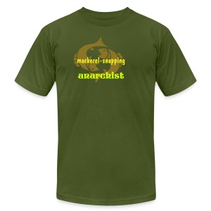 Mackerel-Snapping Anarchist - Men's T-Shirt by American Apparel
