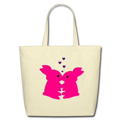 PIP Bunny Kiss Tote Bag - Eco-Friendly Cotton Tote