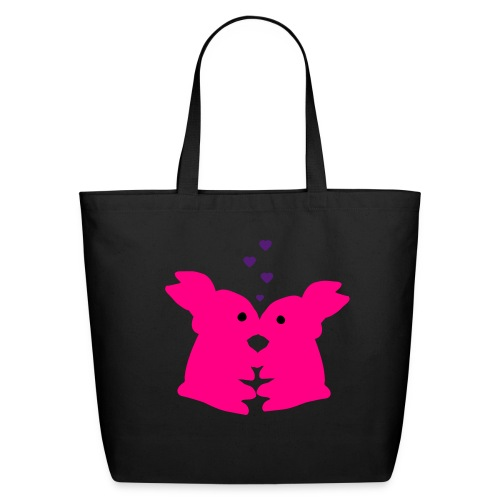 PIP Bunny Kiss Tote Bag - Eco-Friendly Cotton Tote