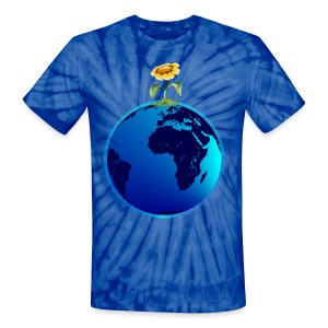 Earth N Flower - Unisex Tie Dye T-Shirt