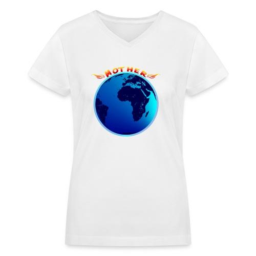 Mother Earth - Women's V-Neck T-Shirt