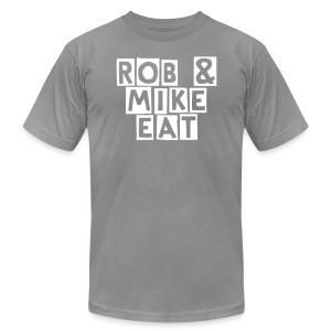 R & M Eat Burger Sleave - Men's Fine Jersey T-Shirt