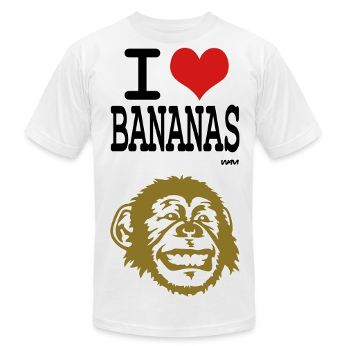 I Love Bananas - Men's Fine Jersey T-Shirt