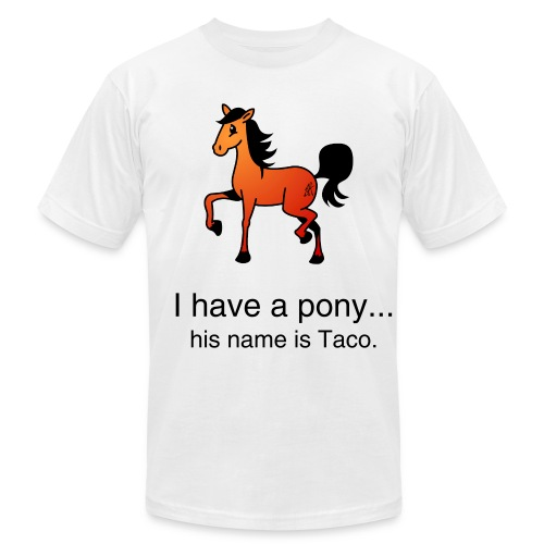 I have a pony. - Men's Fine Jersey T-Shirt