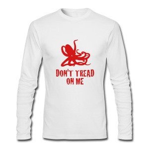 White Octopus Don't Tread On Me Men's Longsleeve T - Men's Long Sleeve T-Shirt by Next Level