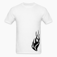 White tribal flame T-Shirts
