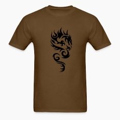 Brown tribal dragon T-Shirts