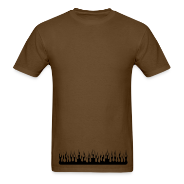 Brown flame T-Shirts