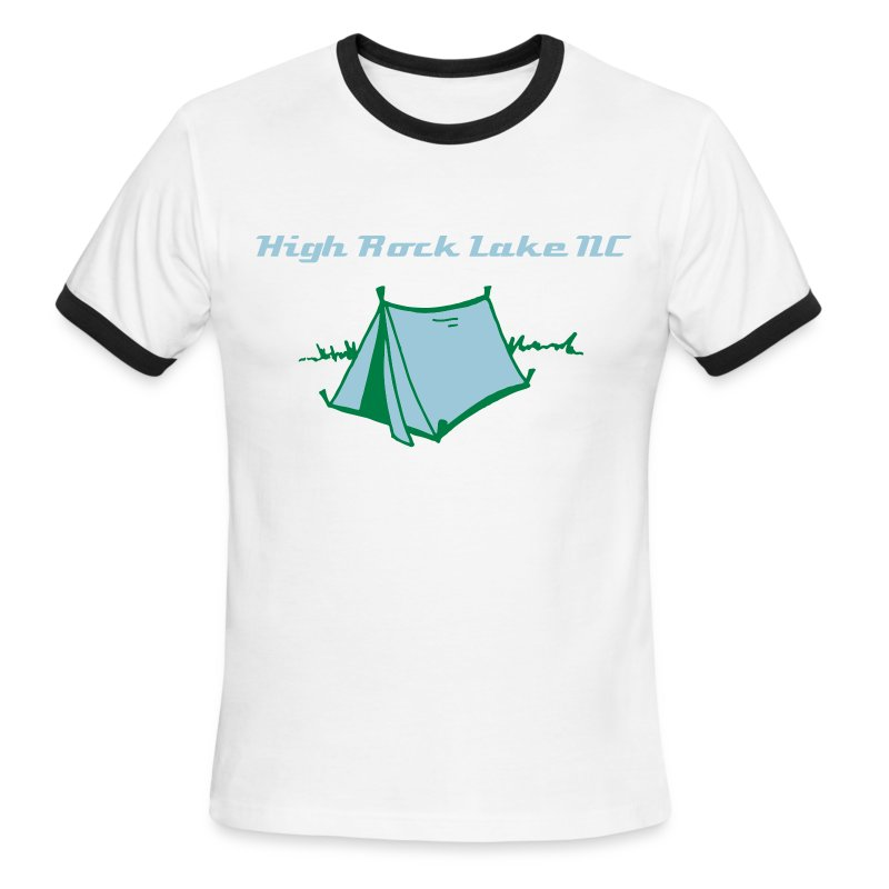 Men's High Rock Lake NC Camping  - Men's Ringer T-Shirt