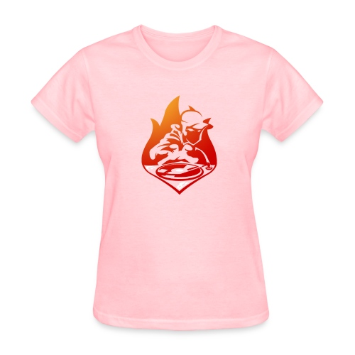 DJ On Fire! Women's Pink T Shirt - Women's T-Shirt