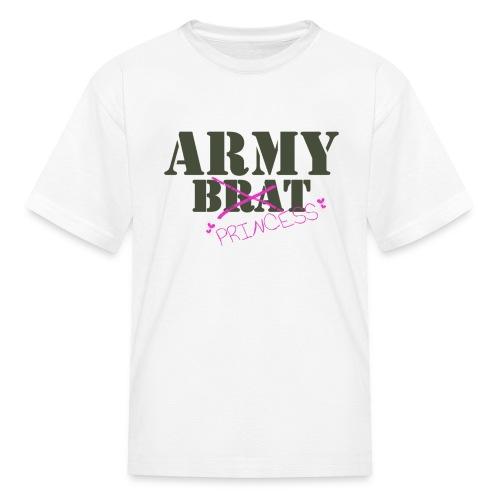 What!?  Me Brat?  You Mean Army Princess! - Kids' T-Shirt