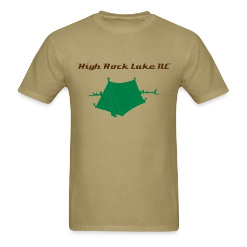 Men's High Rock Lake NC Camping  - Men's T-Shirt
