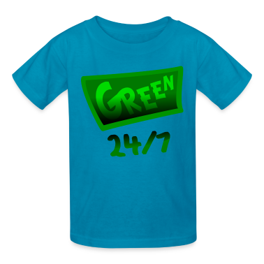 Orange Green 24-7 With Unusual Banner And Shading--DIGITAL DIRECT PRINT Kids' Shirts