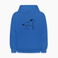 Royal blue Horse Art Sweatshirts