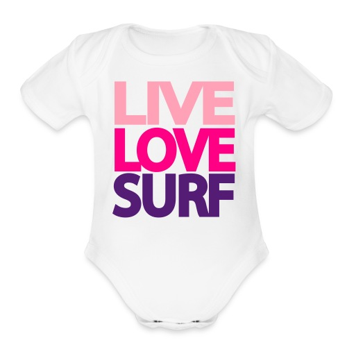 Live Love Surf - Organic Short Sleeve Baby Bodysuit