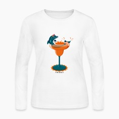 Dolphinrita Women's Long Sleeve Jersey Tee