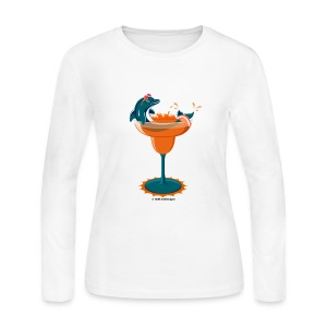 Dolphinrita Women's Long Sleeve Jersey Tee - Women's Long Sleeve Jersey T-Shirt
