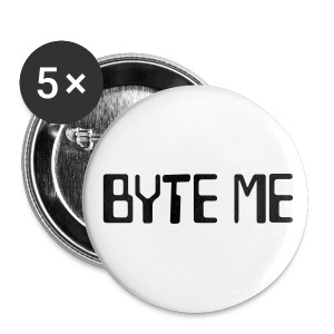 Byte Me Buttons (Large - Pack of 5) - Large Buttons