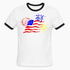 White/black fireworks T-Shirts