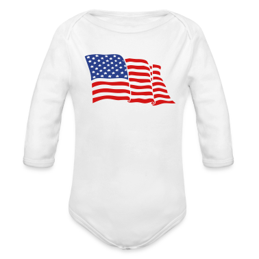 White American flag Baby Body