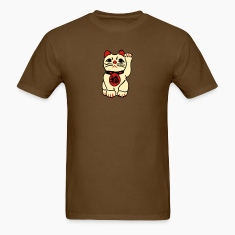 Brown good fortune cat T-Shirts