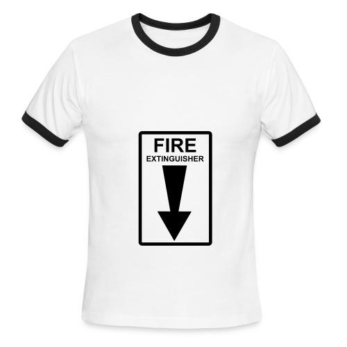 Fire Extinguisher - Men's Ringer T-Shirt