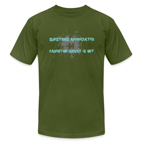 questions appreciated, parening advice is not. - Men's Fine Jersey T-Shirt