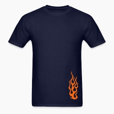 Navy flames 3 T-Shirts