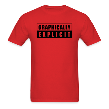 Red graphically explicit T-Shirts
