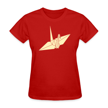 Red origami Women's T-Shirts