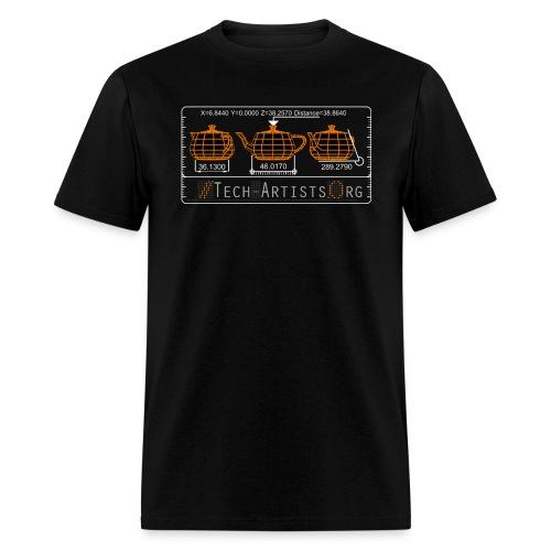 Three Teapots, Black Standardweight Tee - Men's T-Shirt
