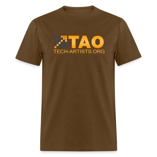 TAO Logo, Brown Standardweight Tee - Men's T-Shirt