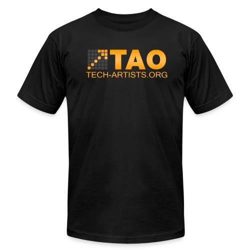 TAO Logo, Black AA Tee - Men's Fine Jersey T-Shirt