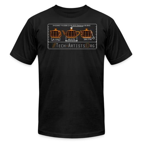 Three Teapots, Black AA Tee - Men's Fine Jersey T-Shirt