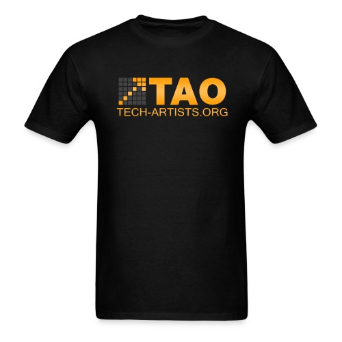 TAO Logo, Black Standardweight Tee - Men's T-Shirt