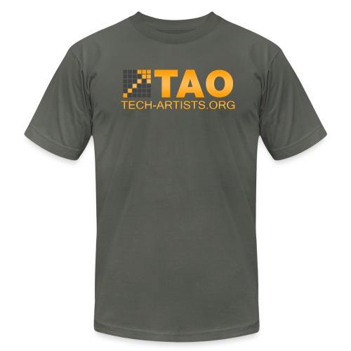 TAO Logo, Asphalt AA Tee - Men's Fine Jersey T-Shirt