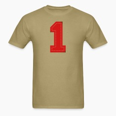 Khaki Number One Patch T-Shirts