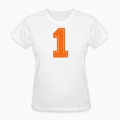 White Number One Patch Women's T-Shirts