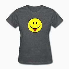 Deep heather smiley Women's T-Shirts