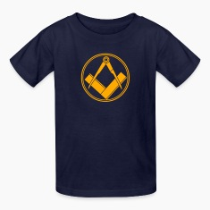 Navy freemasonry Kids' Shirts