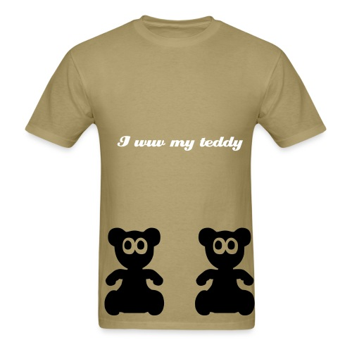 I wuv teddy - Men's T-Shirt