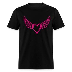 Flying Heart Cotton Tshirt - Men's T-Shirt