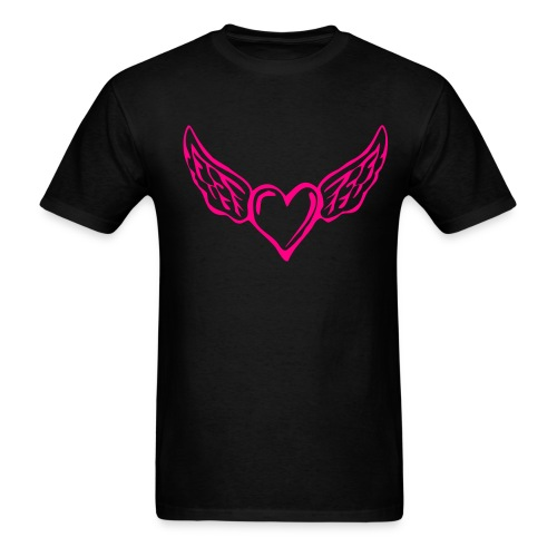 Flying Heart Cotton Tshirt - Men's T-Shirt