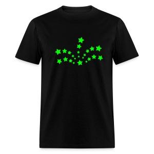 Shooting Star neon green emo tee - Men's T-Shirt