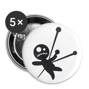5 x Voodoo doll button badges - 1 - Small Buttons