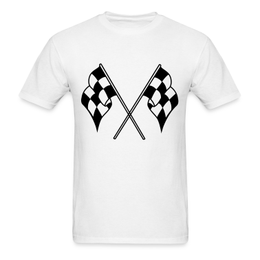 White checkered flag T-Shirts