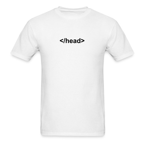 Funny T-Shirts Funny Head Tag Shirt - Men's T-Shirt